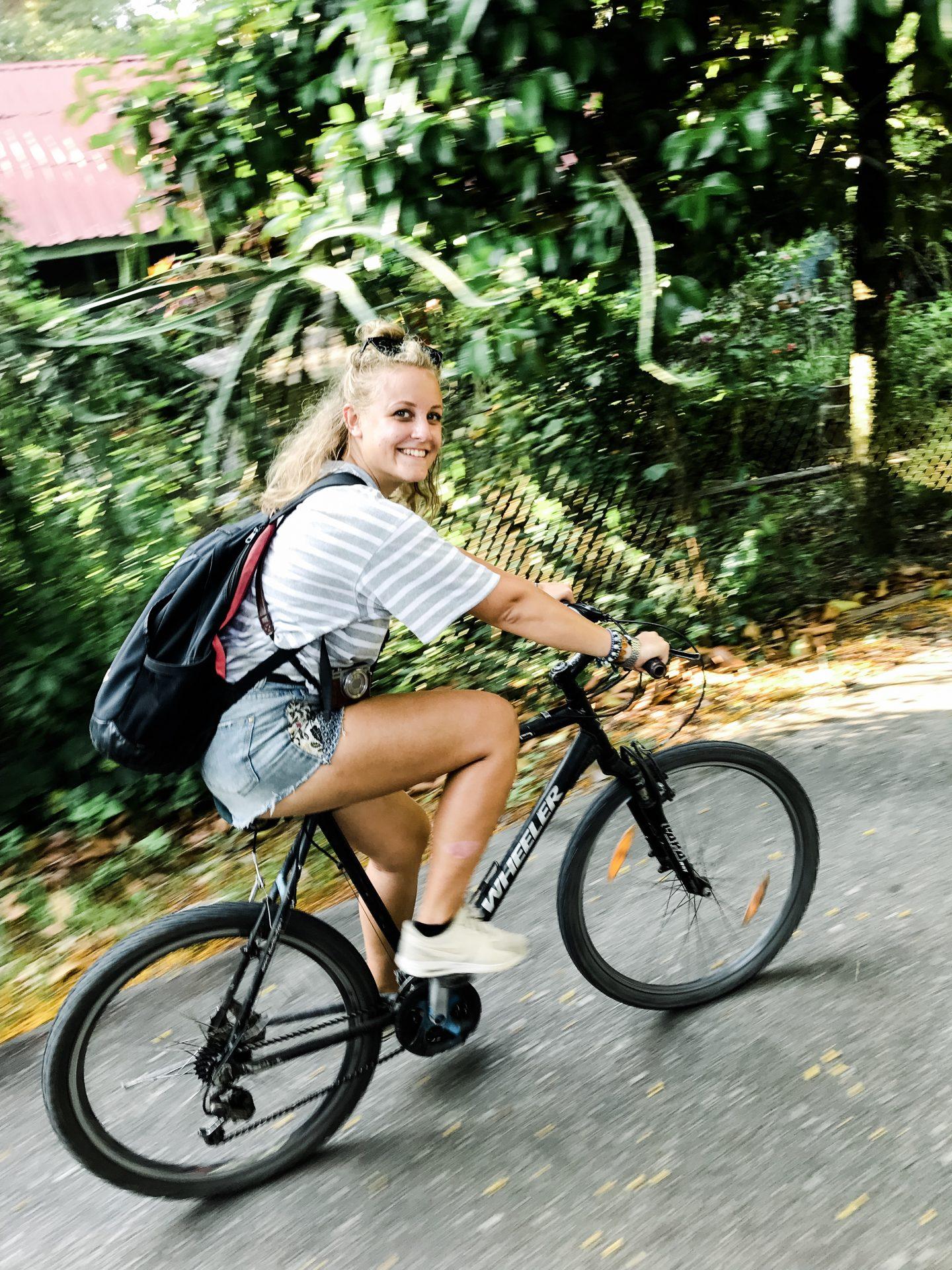 Pulau Ubin: me on a bike