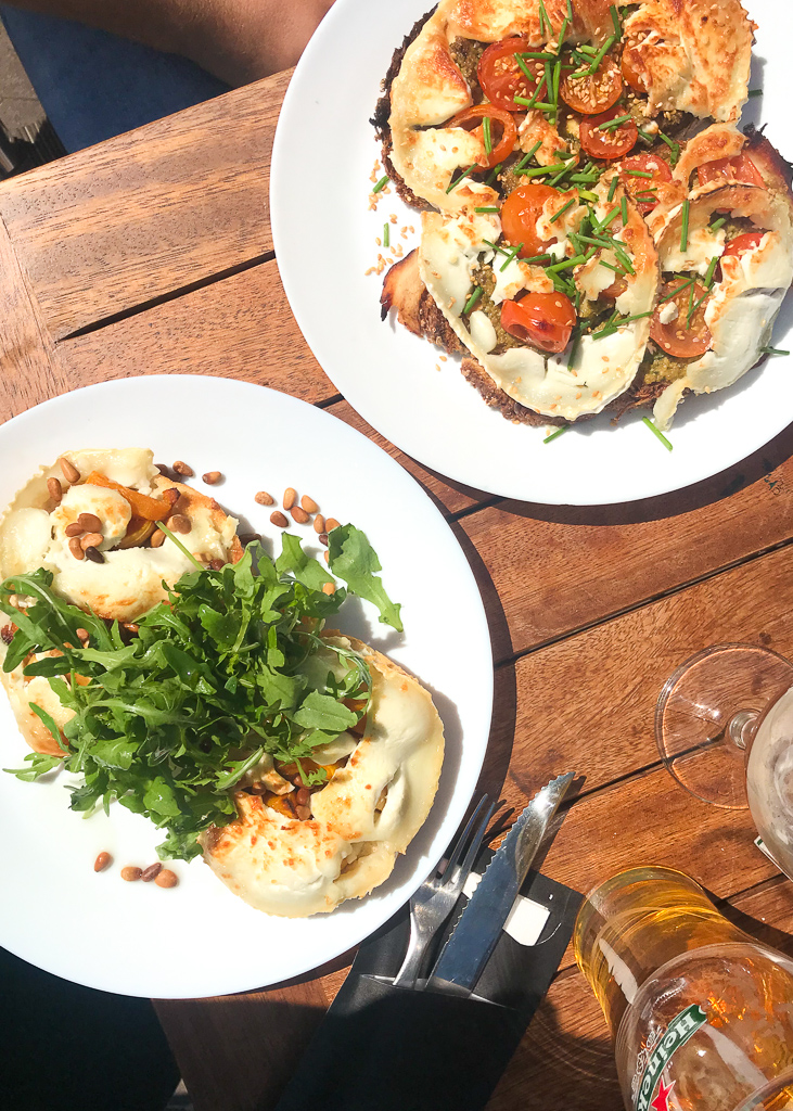 veggie amsterdam: Two Goats Cheese open sandwiches