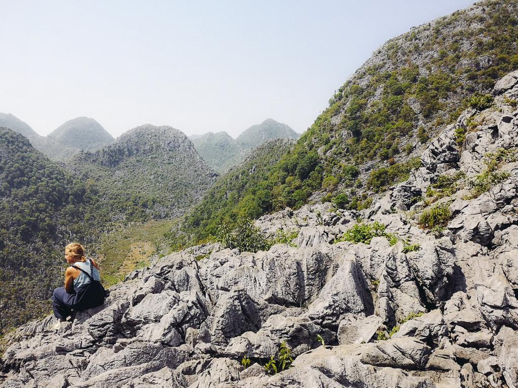 Hà Giang Loop: Sat on some rocks