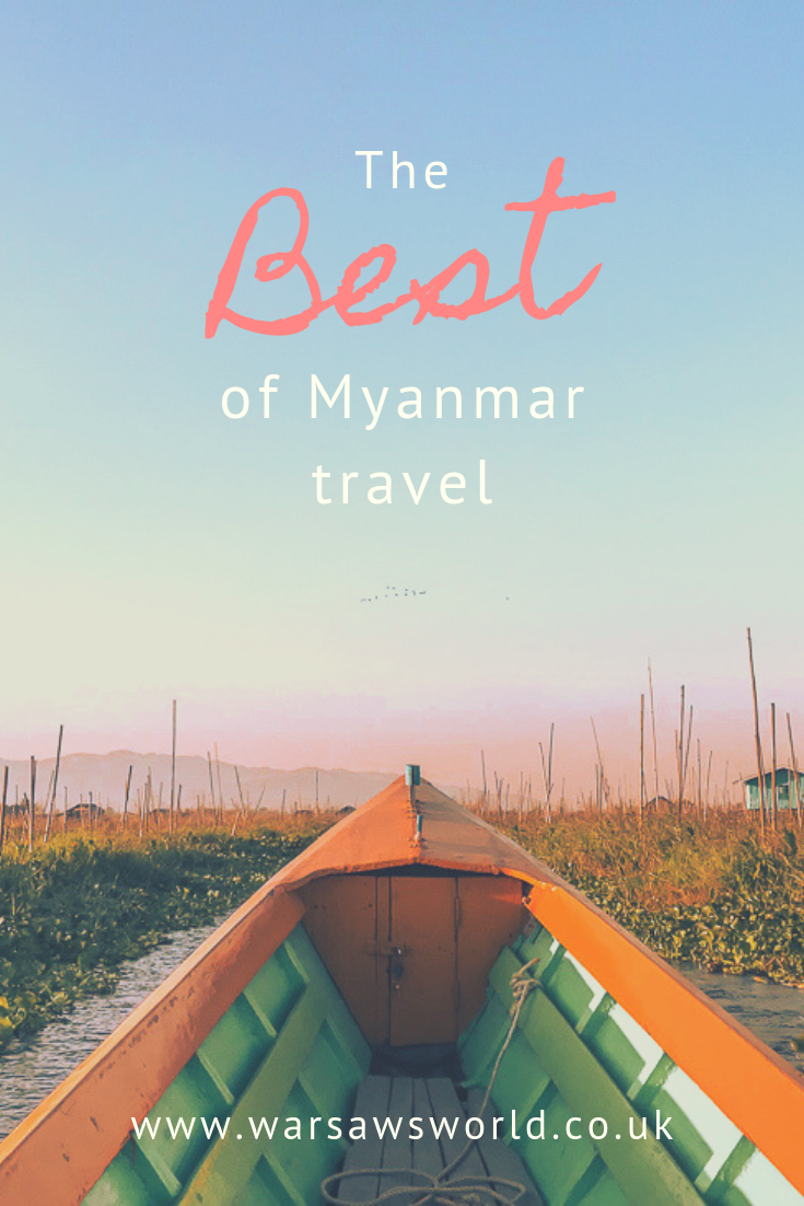 Pinterest graphic: best Myanmar travel