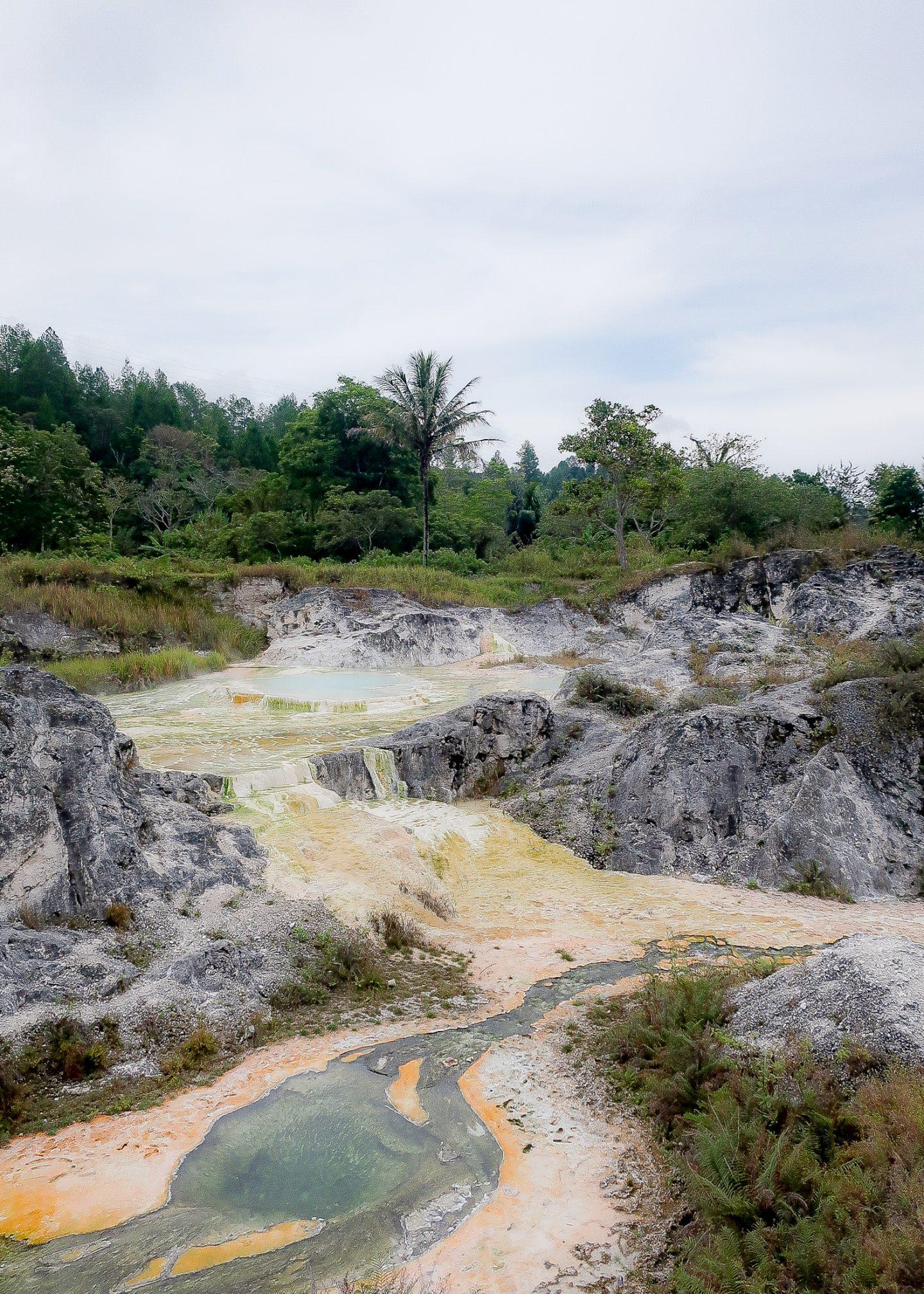 the Sipoholon hot springs