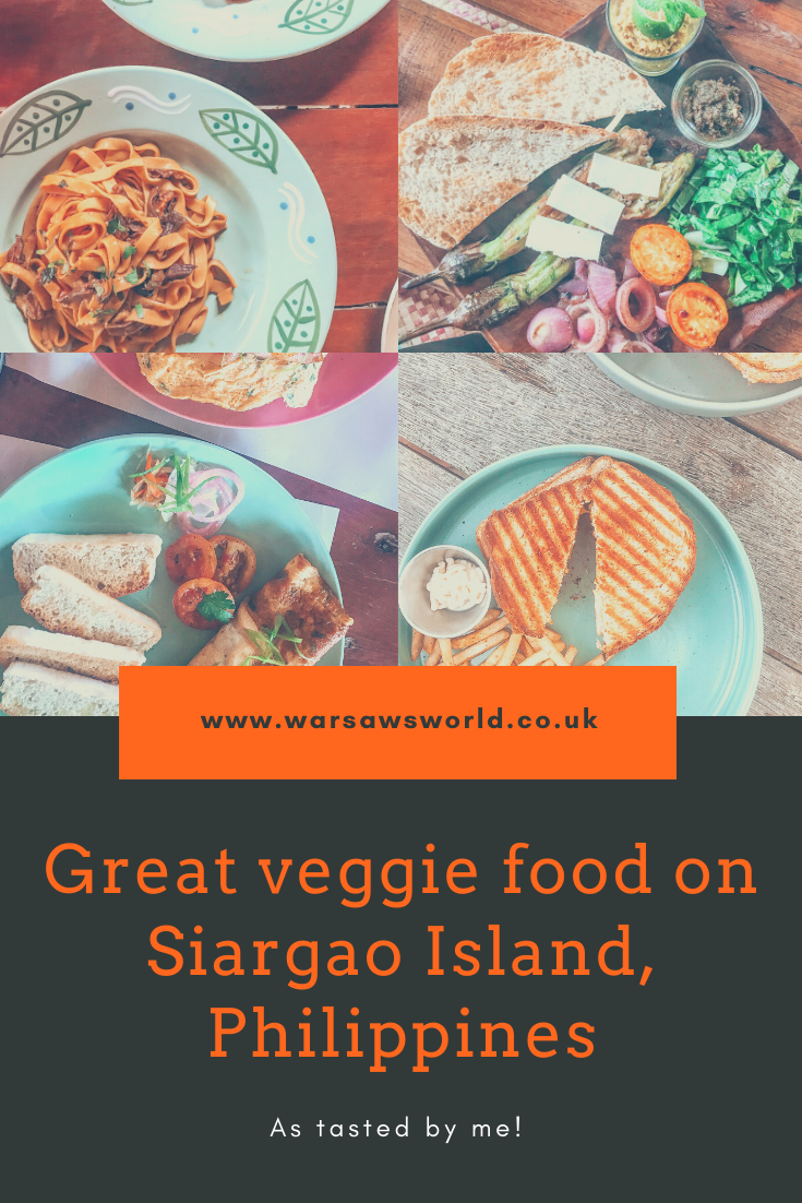 Veggie food in Siargao Island, Philippines