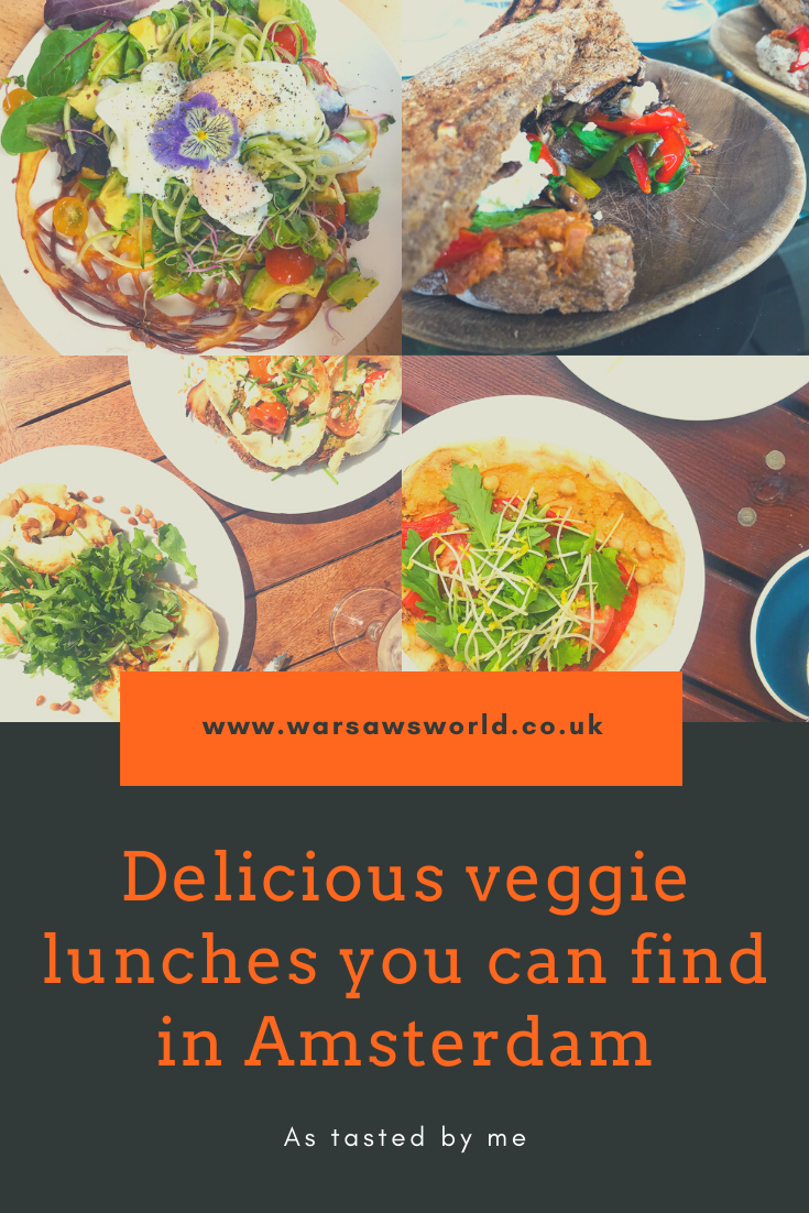 Great veggie lunches you can find in Amsterdam